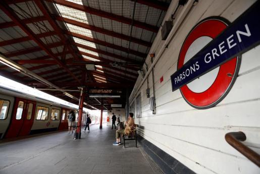 Imagen de este sábado de la estación de Parson's Green.