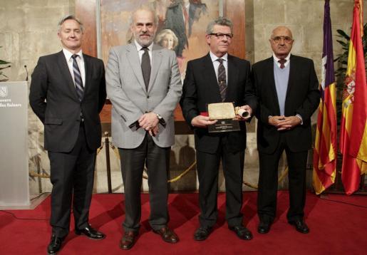 Diego González, Albert Moragues, Joan Seguí y Damià Cerdà.
