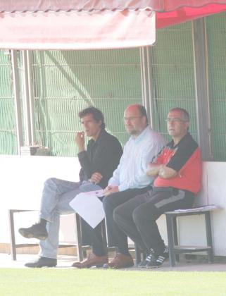Marcos Martín, Nando Pons y Gregorio Manzano, en una imagen captada en la Ciudad Deportiva.