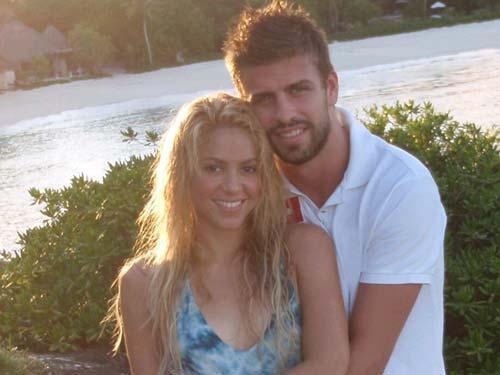 Shakira y Gerard Piqué, dos enamorados.