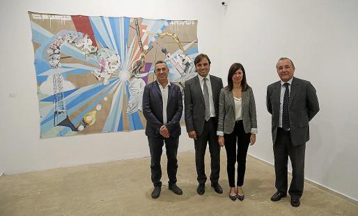 Rafel Creus, Francesc Miralles, Pilar Rubí y Jordi Mulet.