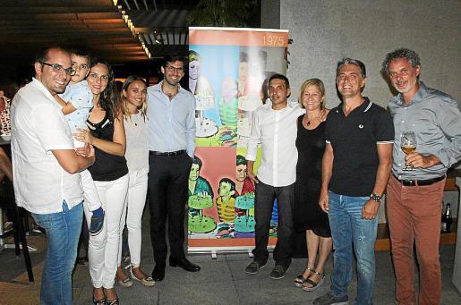 Víctor Lopera y Eric, Rosa Picornell, Laura Crespí, Juan Alba, Matías Rosselló, Margui Mesquida, Javier Muniesa y Juan Pizá.