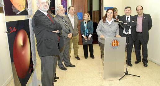 La consellera Pilar Costa, durante su discurso.