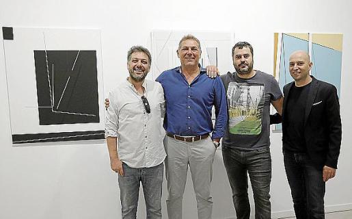 Emilio Gañán, el galerista Pep Llabrés, Carlos Cartaxo y Robert Ferrer.
