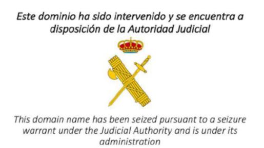 Imagen del logo de la Guardia Civil en la web de la ANC.