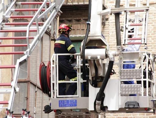 Policía Nacional y efectivos del Parque de Bomberos de Talavera de la Reina han participado en el rescate.