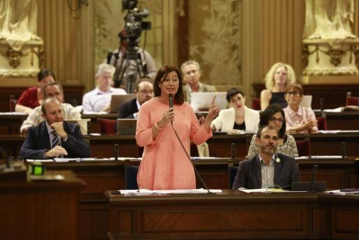 Francina Armengol, este martes en el Parlament.