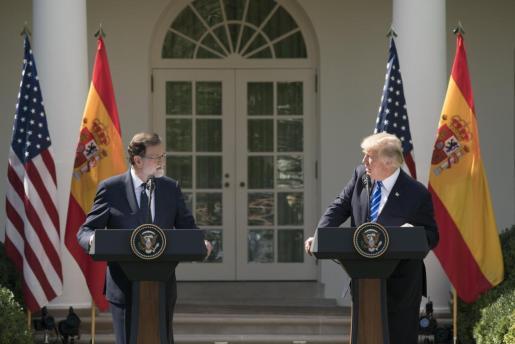 El presidente del Gobierno, Mariano Rajoy y el presidente de Estados Unidos, Donald J. Trump.