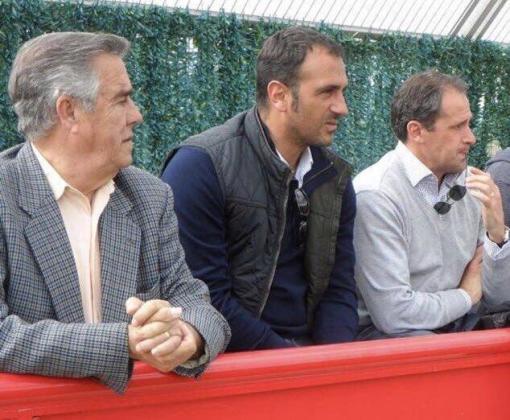 Guillem Servera (en la izquierda) junto a Toni Prats y Óscar Montiel en una foto de archivo.