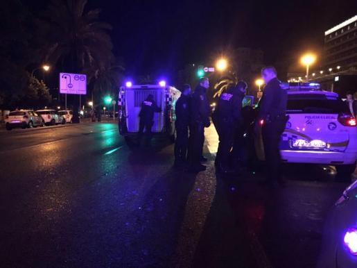 La Policía Local de Palma acudió tras ser avisada por los vecinos.