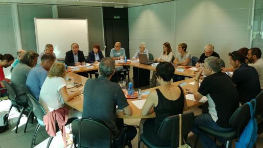 Imagen de la mesa sectorial de educación.