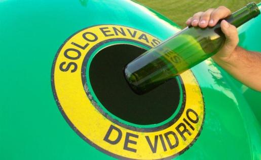 Reciclaje de vidrio.