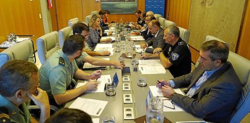 Imagen de la Junta de Seguridad de Calvià celebrada este miércoles en el Ajuntament de Calvià.