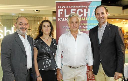 Alfonso Moll, Lucía Mayans, Jaelius Aguirre y José Ramón Bauzá.