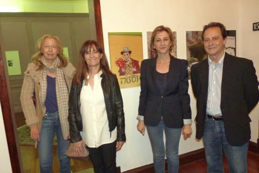 Gracia Serra di Cassano, Mercedes Huerta, Marga Pérez-Villegas y Miguel Font.