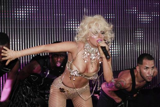 Lady Gaga, en una de sus actuaciones.