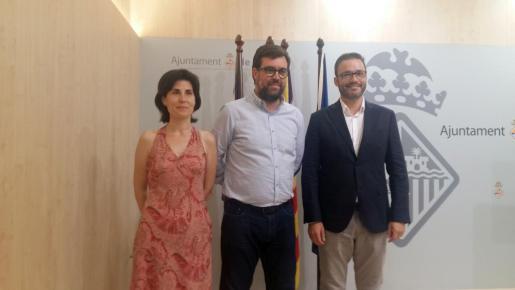 El manifiesto ha sido firmado por los portavoces de los grupos municipales del equipo de gobierno y el alcalde de Palma, Antoni Noguera.