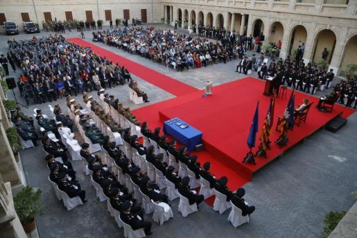 La Policía Nacional celebró en el patio de La Misericòrdia de Palma el acto institucional de la celebración de su patrón, los Ángeles Custodios.