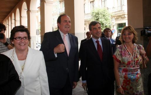 Catalina Cirer, José María Rodríguez, Ángel Acebes y Rosa Estarás.