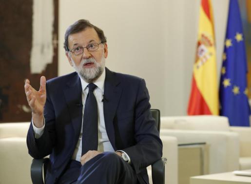 El presidente del Gobierno, Mariano Rajoy, este jueves en La Moncloa.