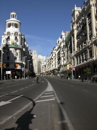 Gran Vía de Madrid, en una imagen de archivo.