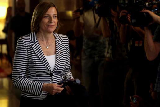 La presidenta del Parlament, Carme Forcadell, este miércoles en Barcelona.