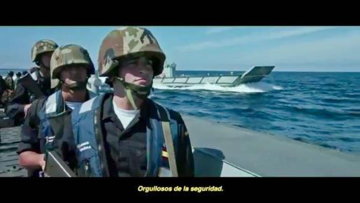 Fotograma del vídeo difundido por el Ministerio de Defensa.