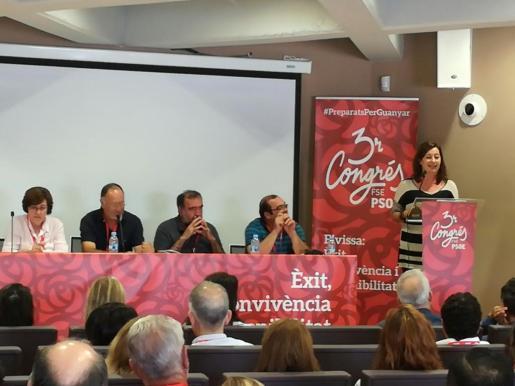 Francina Armengol ha clausurado este sábado el III Congreso de la Federación Socialista de Ibiza.