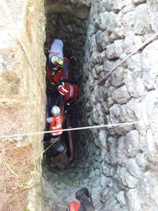 La antigua mina de agua tenía un metro de ancho por unos cinco de profundidad.