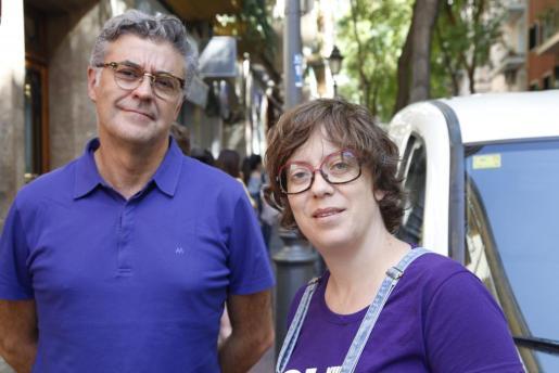 Dos diputados de la CUP en un reciente acto en Palma.