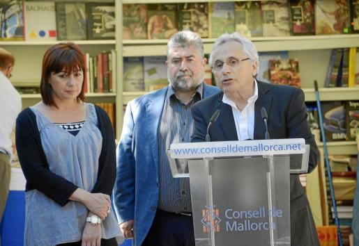 Francina Armengol, Joan Font y Guillem Frontera, ayer en Palma.