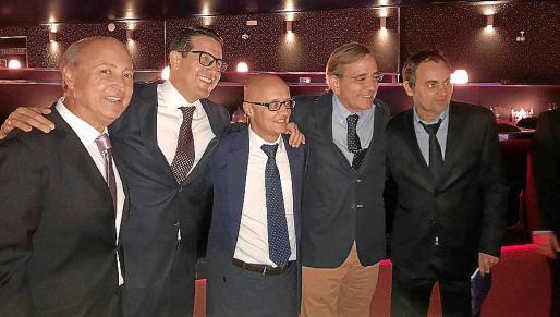 Joan Antoni Bauzá, Luis Moyá, Richard Clarck, Mino Salas y Albert Orfila.