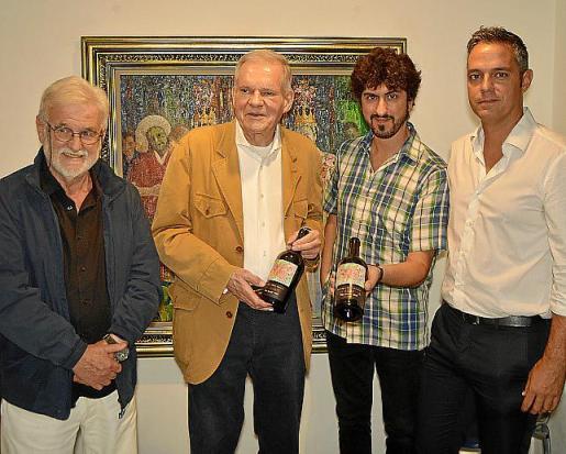 Toni Bennàssar, Hans Peter Schwarzkopf, Pol Font y Agustí Mascaró.