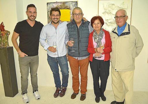 Diego Amorós, Ernesto Rodríguez, Biel Perelló, Joana Frau y José Pérez.