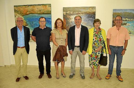 Jaime Revuelta, Gabriel de Hevia, Maria Dolors Caldentey, Jorge Azri, Curra Fuster y Agustín Macià.