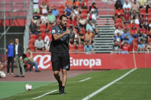 El técnico del Mallorca, Vicente Moreno, en una imagen captada el pasado fin de semana.