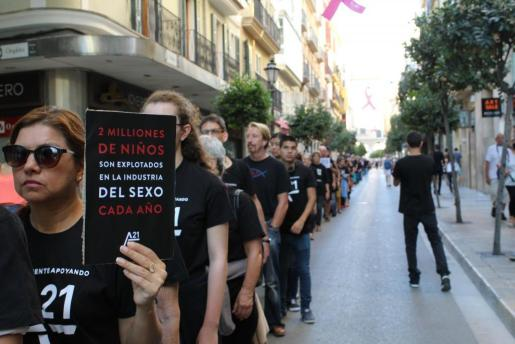 En 2016 medio millar de personas participaron en la marcha 'Caminando por la libertad' organizada por A21.