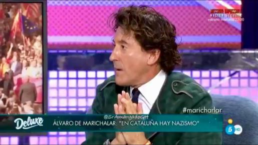 Álvaro de Marichalar durante su entrevista en Sábado Deluxe, que no duró más de un cuarto de hora.