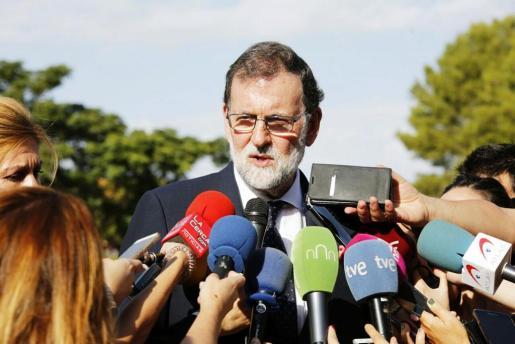 El presidente del Gobierno Mariano Rajoy, dice que Puigdemont será el único responsable de aplicar el 155.