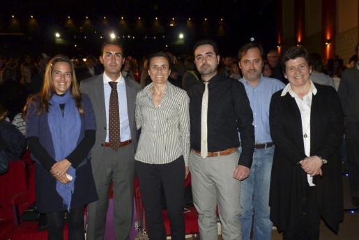 José Antonio Ródalo, Marta Gallardo, Pedro Pizá , Paula Serra, Koldo Alonso y Catalina Cirer.