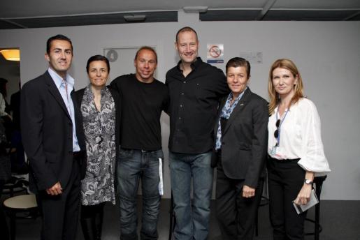 Pedro Pizà, de Iberostar; Paula Serra, Xavi Torres, Pedro Garcia, Carmen Serra y Joana Maria Vives.