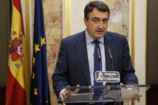El portavoz parlamentario del PNV, Aitor Esteban, en una imagen de archivo.