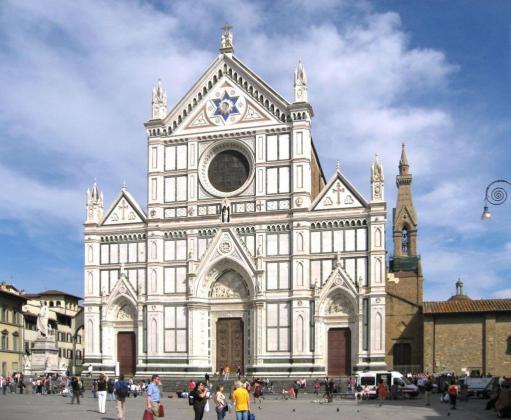 Imagen de archivo de la basílica de Santa Croce, donde este jueves ha fallecido un turista español tras caerle una piedra en la cabeza.