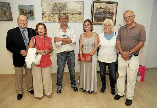 Jaime Mulet, Maribel Jaume, Carlos Quintana, Monsina Rossello, Liz Magnes y Rafi Magnes.
