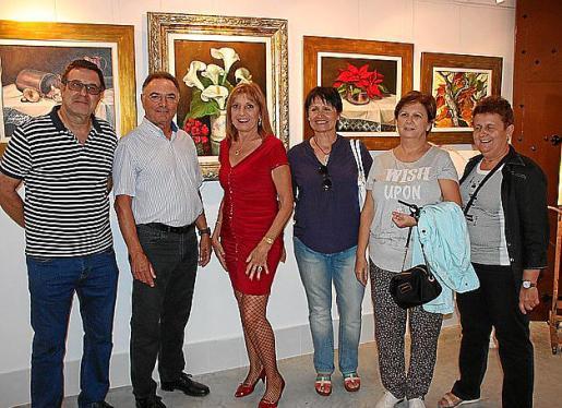 Esteve Amer, Juan Boscana, Cati Aguiló, Antonia Mulet, Margalida Oliver y Xisca Salvá.