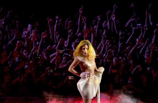 La cantante neoyorquina Lady Gaga, durante una actuación.