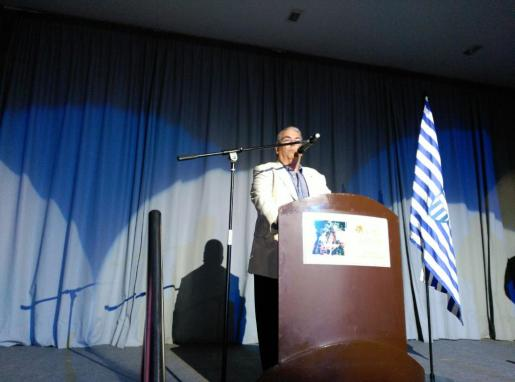 El presidente de la comisión de los actos del 75 aniversario, Toni Salas, ha sido el maestro de ceremonias.