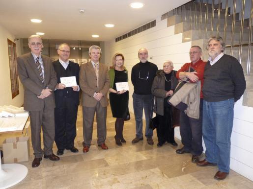 Pedro Comas, Sebastià Serra, Llorenç Julià, Maria Antònia Munar, Ferran Aguiló, Catalina Sureda, Enrique Lázaro y Climent Picornell.