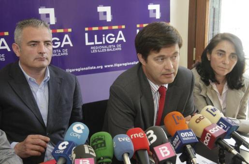 Jaume Font, Juanjo Amengual y Blanca Vergés.