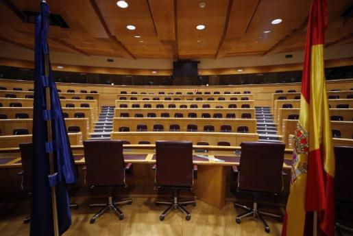 Vista de la Sala Europa del Senado, donde este martes se constituirá la comisión del 155.